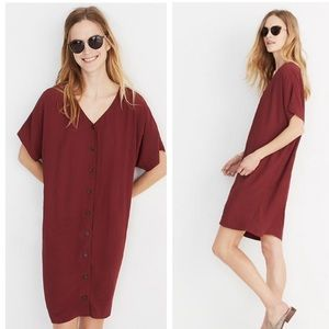 Madewell button front easy nonwaisted shift dress